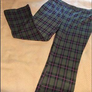Plaid Cropped Stretch Pants EUC sz L